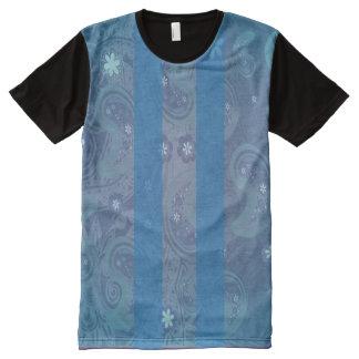 El Chapo Paisley Blue All-Over Print T-shirt