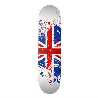 El chapoteo BRITÁNICO de Union Jack colorea el mon Skate Boards