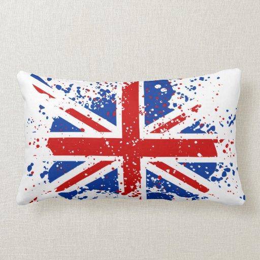 El chapoteo BRITÁNICO de Union Jack colorea la Almohadas