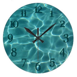 El chapoteo del trullo numera el reloj de pared de
