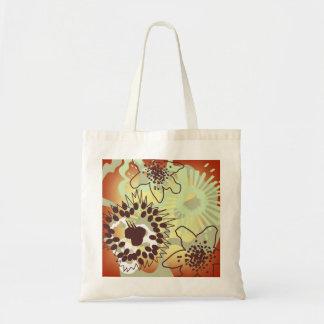 El chapoteo floral de las sombras calientes lleva bolsas