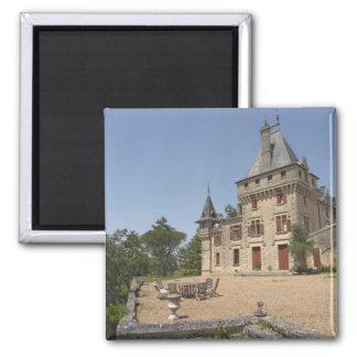 El Chateau magnífico de Pressac y jardín Imán Cuadrado