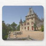 El Chateau magnífico de Pressac y jardín Tapete De Ratones