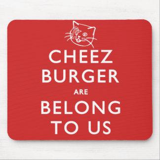 El cheeseburger es pertenece a nosotros alfombrilla de ratones