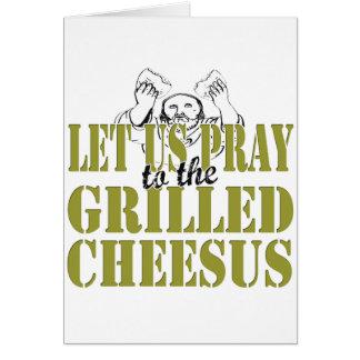El Cheesus asado a la parrilla Tarjeta De Felicitación