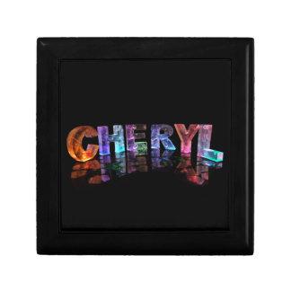 El Cheryl conocido hermoso en las luces 3D Caja De Joyas