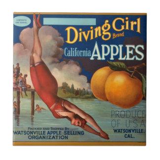 El chica Apple del salto del vintage del KRW da Teja Ceramica