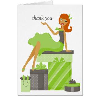 El chica bonito del Redhead le agradece las notas Felicitacion