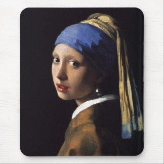 El chica con el pendiente de la perla por Vermeer Mousepads