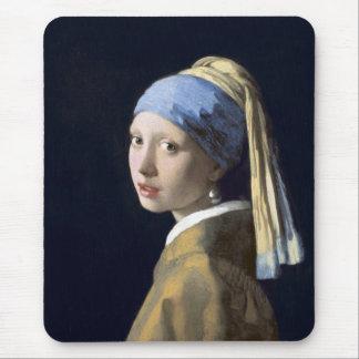 El chica con el pendiente de la perla alfombrillas de raton