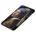 El chica con un pendiente de la perla de Juan Verm Case-Mate iPod Touch Carcasa