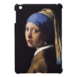 El chica con un pendiente de la perla de Juan Verm iPad Mini Carcasas