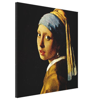 El chica con un turbante/un chica con el pendiente lona estirada galerías
