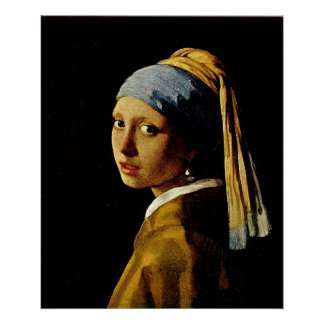 El chica con un turbante/un chica con el pendiente impresiones