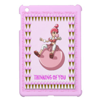 El chica de Bubblegum y helado iPad Mini Carcasas