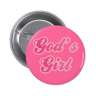 El chica de dios pin redondo 5 cm
