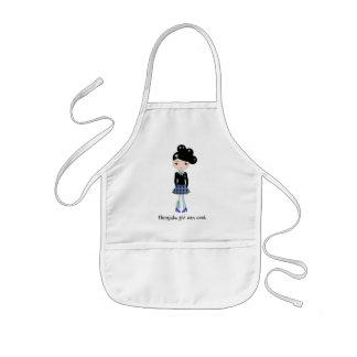 El chica de Harajuku puede cocinar el delantal