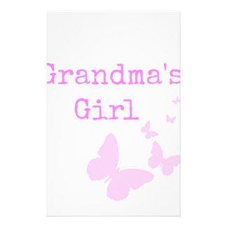 El chica de la abuela papelería personalizada
