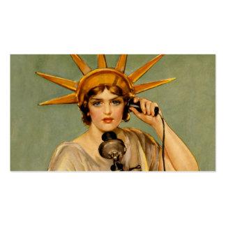 """El chica de la libertad """"me llama """" tarjetas de visita"""