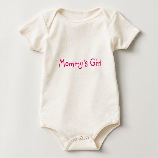 El chica de la mamá body para bebé