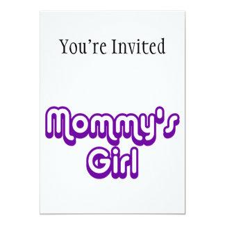 """El chica de la mamá invitación 5"""" x 7"""""""