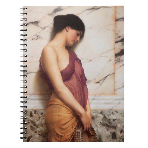 El chica de la pandereta de Juan Guillermo Godward Libros De Apuntes Con Espiral