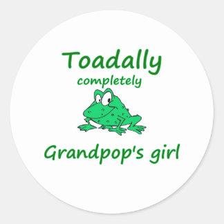 el chica de los grandpop pegatina redonda