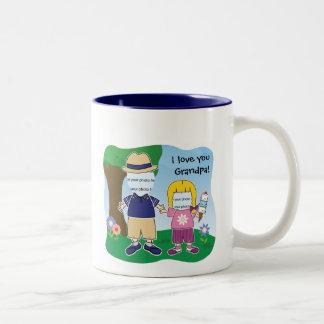 El chica del abuelo adaptable tazas de café