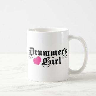 El chica del batería taza
