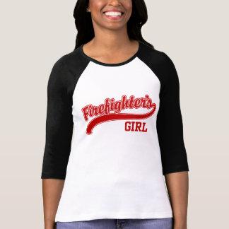 El chica del bombero camiseta