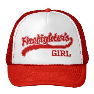 El chica del bombero gorro