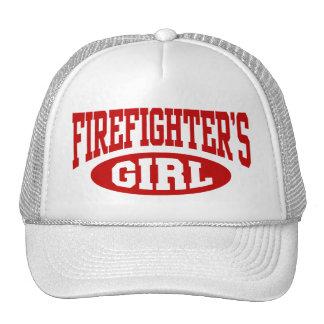 El chica del bombero gorros bordados