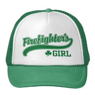 El chica del bombero irlandés gorra