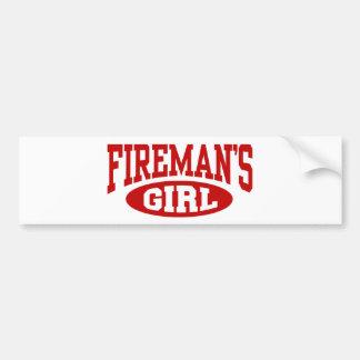 El chica del bombero pegatina para auto