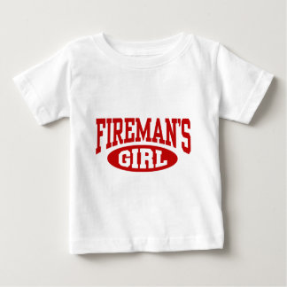 El chica del bombero playera para bebé