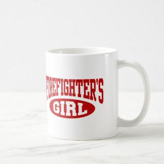 El chica del bombero taza