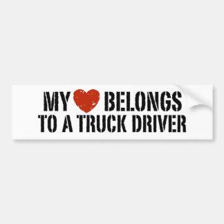 El chica del camionero pegatina para auto