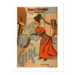El chica del circo - elefante y mono de alimentaci tarjetas postales