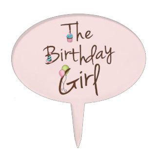 El chica del cumpleaños figuras para tartas