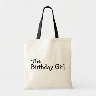 El chica del cumpleaños bolsas lienzo