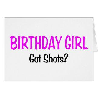 El chica del cumpleaños consiguió tiros tarjeta de felicitación
