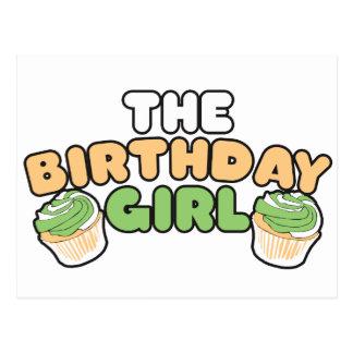 El chica del cumpleaños postales