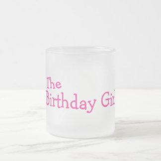 El chica del cumpleaños rosa tazas de café