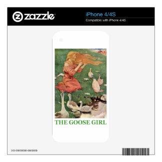 El chica del ganso calcomanías para iPhone 4