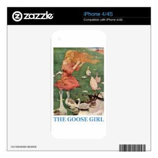 El chica del ganso calcomanías para iPhone 4S