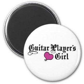 El chica del guitarrista imán redondo 5 cm