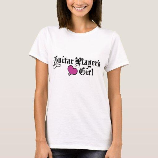 El chica del guitarrista playera