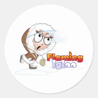 El chica del iglú de Fliaming se defiende Pegatina Redonda