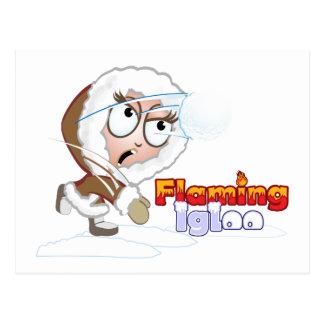 El chica del iglú de Fliaming se defiende Tarjeta Postal