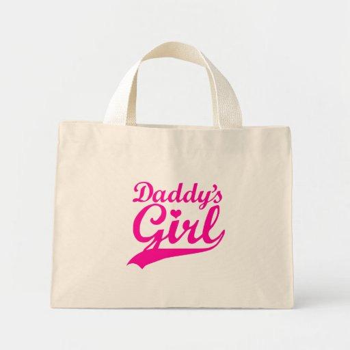 El chica del papá bolsas lienzo